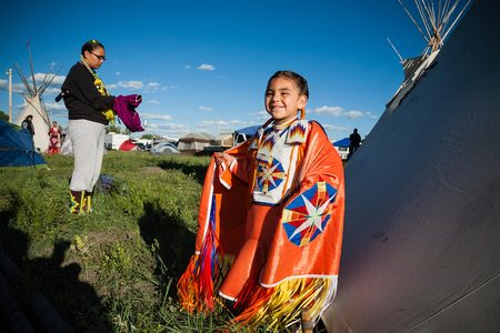 Shawna Jiminez, Age 4 and mother Shawnee Skunkcap North American Indian Days, Browning, Montana Blackfeet Reservation