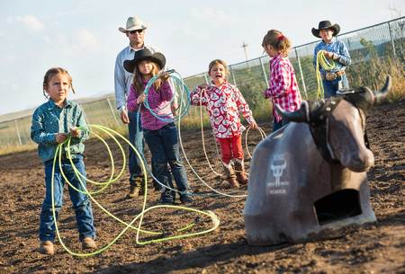 Girls dummy roping competition
